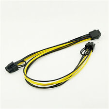 PCI-E 6 pin Male to Dual Male PCIE 8pin (6+2pin) Graphics Video Card Power Cable