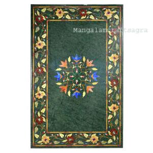 "36"" x 22"" Marble Center Table Top Pietra dura Inlay Handmade Home Decor"