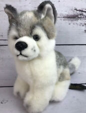 "Vintage 1996 Aurora Classic SIBERIAN HUSKY Puppy Wolf Dog 8"" Plush"