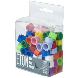 ETON Clic Leg Rings for Birds assorted colours and quantities