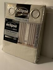 "Eclipse Absolute Zero 95"" Blackout Curtains 2-Pack Kimball Cream BRAND NEW PAIR"
