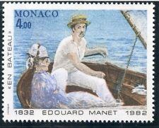 STAMP / TIMBRE DE MONACO N° 1347 ** ART / TABLEAUX / EDOUARD MANET / EN BATEAU