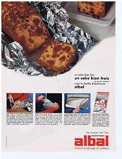 PUBLICITE ADVERTISING 104 1968 ALBAL la feuille d'aluminium