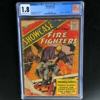 Showcase #1 (1956) 💥 CGC 1.8 OWW 💥 1st Fireman Farrell DC Comics Fire Fighters