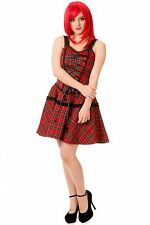 Cotton Check Regular Size Sleeveless Dresses for Women