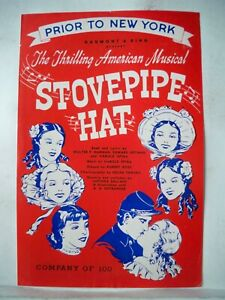 STOVEPIPE HAT Herald TRYOUT Shubert Theatre BOSTON MA Flop 1944
