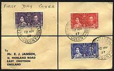 GILBERT & ELLICE 1937 Coronation set - FDC - Ocean Island..................93294