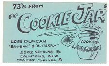 Old Cookie Jar Postcard QSL Card Amateur CB Ham Radio Columbus Ohio Advertising