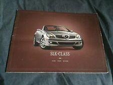2008 Mercedes Benz SLK Full Line USA Market Large Brochure Catalog Prospekt
