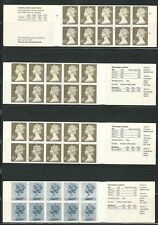 Great Britain: 4 booklet different train, airplane, building. GB106