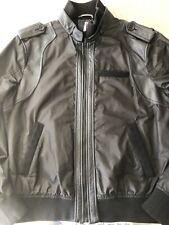 D&G Leather Mens Jacket EU58 UK48 XXL £559RRP Black Dolce & Gabbana XL Plaque