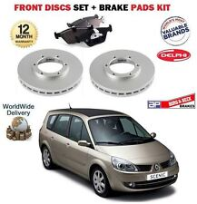 FOR RENAULT GRAND SCENIC ALL 2004-2009 FRONT BRAKE DISCS SET AND DISC PADS KIT