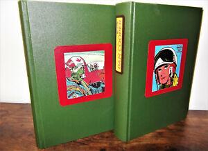 DAN COOPER - 33 Bastei Hefte komplett gebunden in 2 Kunstleinen-Hardcoverbücher