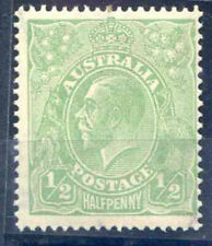 More details for australia 1/2d yellow green sg20c unmounted mint