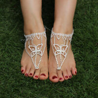 Bridal Foot Beach Gift Ankle Ring Bracelet Barefoot Jewelry Toe Sandals Crystal
