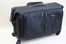 "TUMI 'Alpha 2"" WHEELED CARRY-ON GARMENT BAG STYLE 22038  Msrp $695"