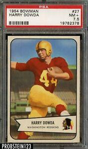 1954 Bowman Football #27 Harry Dowda Washington Redskins PSA 7.5 NM+