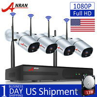 ANRAN 1080P CCTV Security Camera System Outdoor Wireless HDMI Waterproof 1TB HDD