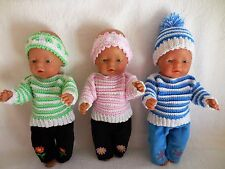 "BABY BORN 17""DOLLS CLOTHES CROCHET OUTFIT"