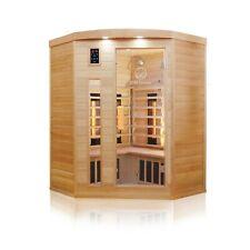 Hemlock Wood Carbon and Ceramic FAR Infrared Heated 3 Person Indoor Sauna