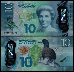 NEW ZEALAND 10 DOLLARS (P192) N. D. (2015) POLYMER UNC