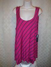 Sleeveless Blouses APT.9 size plus 3X,1X. Fuchsia Pink and Juicy Grape Striped N