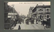 1920s Mexico City Real Picture RPPC Postcard Guardiola San Francisco Street View