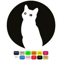 Moon Cat Iron On T-Shirt Clothes Transfer Heat Press Sticker 12 Colours 5 Sizes