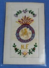 WW1 SILK EMBROIDERED POSTCARD NORTHUMBERLAND FUSILIERS