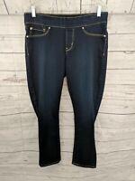 DENIZEN from LEVIS Women's Pull-on Dark Crop Modern Skinny Jegging Jeans - 12