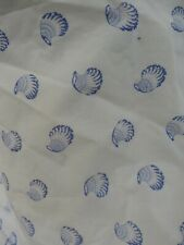 "Laura Ashley cotton mix shell detail Vintage shower curtain 66""/68"" stunning"