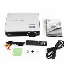 iRULU White P4 LED 1080P Video Cinema Projector with TV Turner For Movie Games