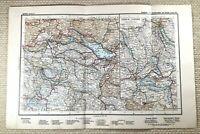 1905 Ancien Chemin de Fer Carte Suisse Rail Railroad Routes Zurich Lucerne