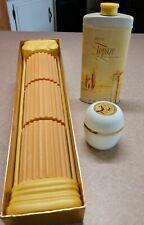 Vintage Avon Topaze soaps 1965 Talc 1962 cream sachet all full