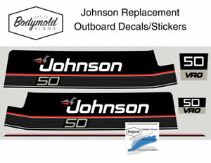 Johnson 50hp DELUXE Replacement Outboard Decals/stickers