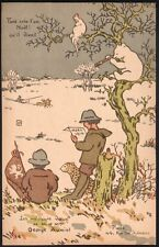 George Auriol. Carte de Joyeux Noel 1914. Christmas card. Japonisme. Montmartre