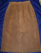 WOMEN SUEDE SKIRT LORD& TAYLOR  Size 10p Brown New
