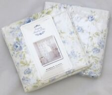 Rachel Ashwell Simply Shabby Chic BLUE BRITISH ROSE Window Panels Curtains Drape