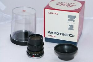 Leicina Leica-M Macro-Cinegon 10mm f1.8 MACRO lens. BOXED.  CLA'd by DAG in 2020