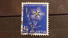 Schweiz Michel-Nr. 544, 40+10c Pro Juventute 1949 - Prachtnelke, gestempelt