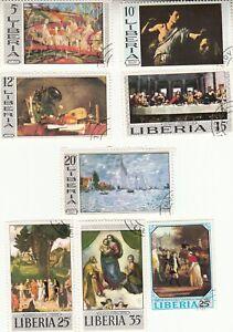 Liberia 1969-1970, Paintings, CTO, MNH