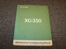 2002 Hyundai XG350 Electrical Wiring Diagram Troubleshooting Manual L 3.5L V6