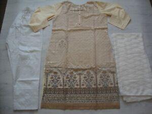 Unique cotton embroidered Salwar Kameez chiken Kaari  suit Party Wear £25