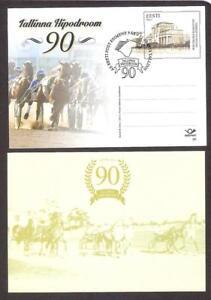 Tallinn Racetrack 90th Anniv Estonia 2013 stationary postcard # 80 FDC