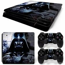 PS4 Slim Playstation 4 Console Skin Decal Sticker Star Wars Darth Vader Design