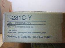 x4 Cartridges, Toshiba T-281C-Y, Yellow Toner for e-Studio 281c, 351c, 451c