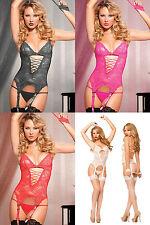 Women Sexy Sissy Lingerie Babydoll Lace Thong G-String Underwear Nightwear Set