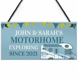 Personalised Motorhome Sign Novelty Caravan Campervan Decor Sign Home Gifts