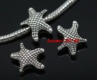 40pcs Tibetan Silver big hole hippocampus Beads Fit Charm Bracelet Lead Free