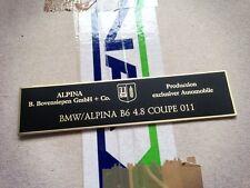 BMW Alpina E36 E46 E32 E34 E39 console dash plate B3 B6 B8 B10 B11 B12 BITURBO